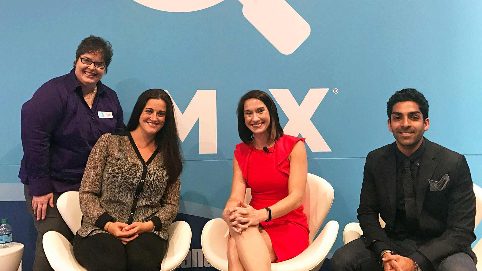 From left to right: Pamela Parker, Executive Features Editor, Marketing Land & Search Engine Land; Tara Siegel, Senior Director of Social at Pepperjam; Maggie Malek, the head of social at the MMI Agency; and Sahil Jain, CEO of AdStage.