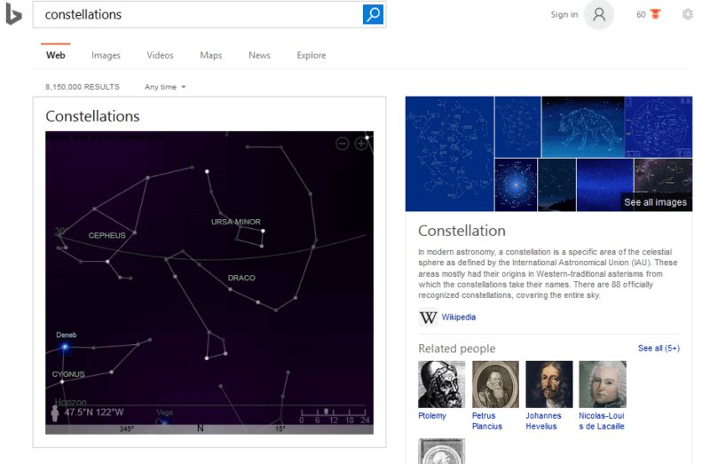 constellations-bing-search-results