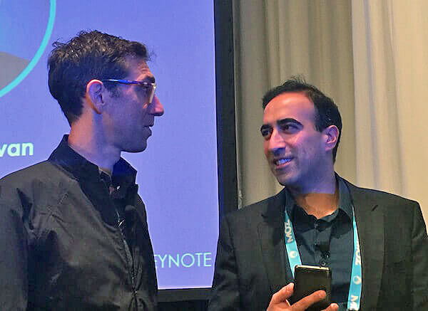 Left: Jerry Dischler, the Vice President of AdWords. Right: Babak Pahlavan, the Global Head of Products and Director of Google Analytics.