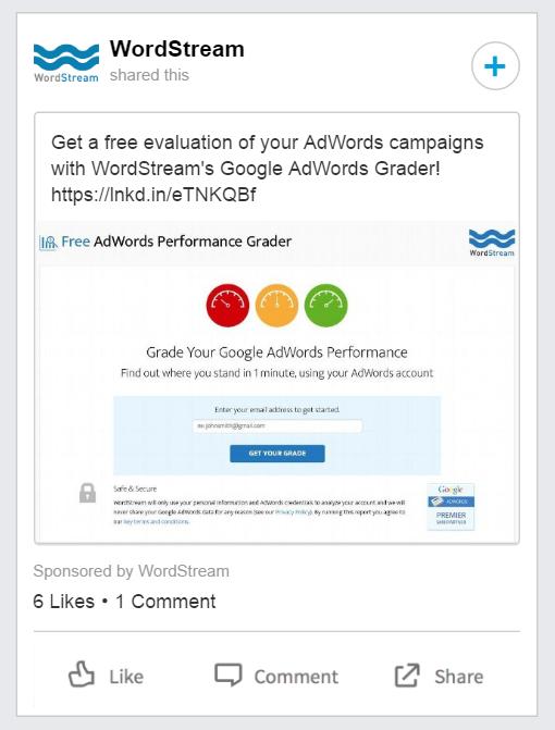 linkedin ad example