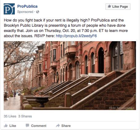 ProPublica Facebook ad