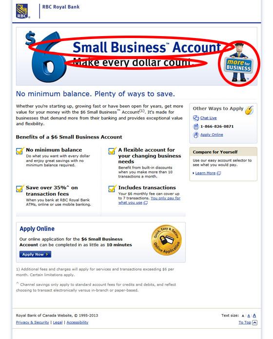 Landing page image message matching landing page example