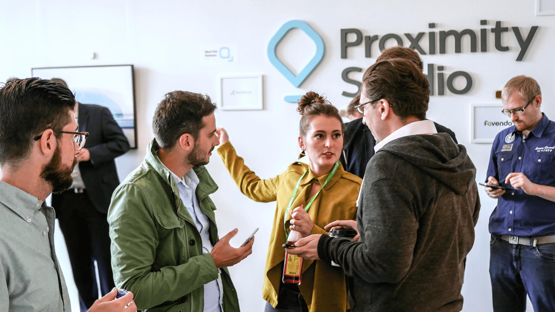 An opening event at Kontakt.io's Proximity Studio