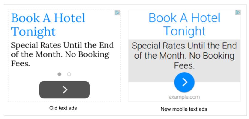 google text ads update adsense