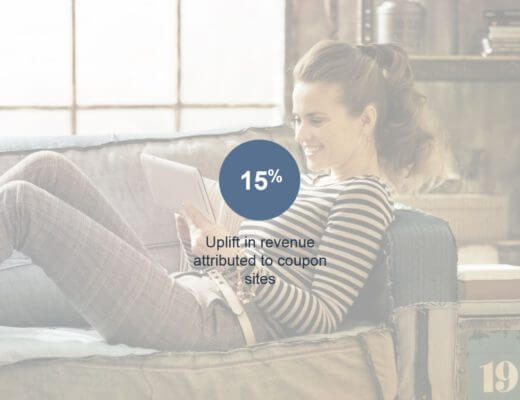 Uplift in coupon revenue stat