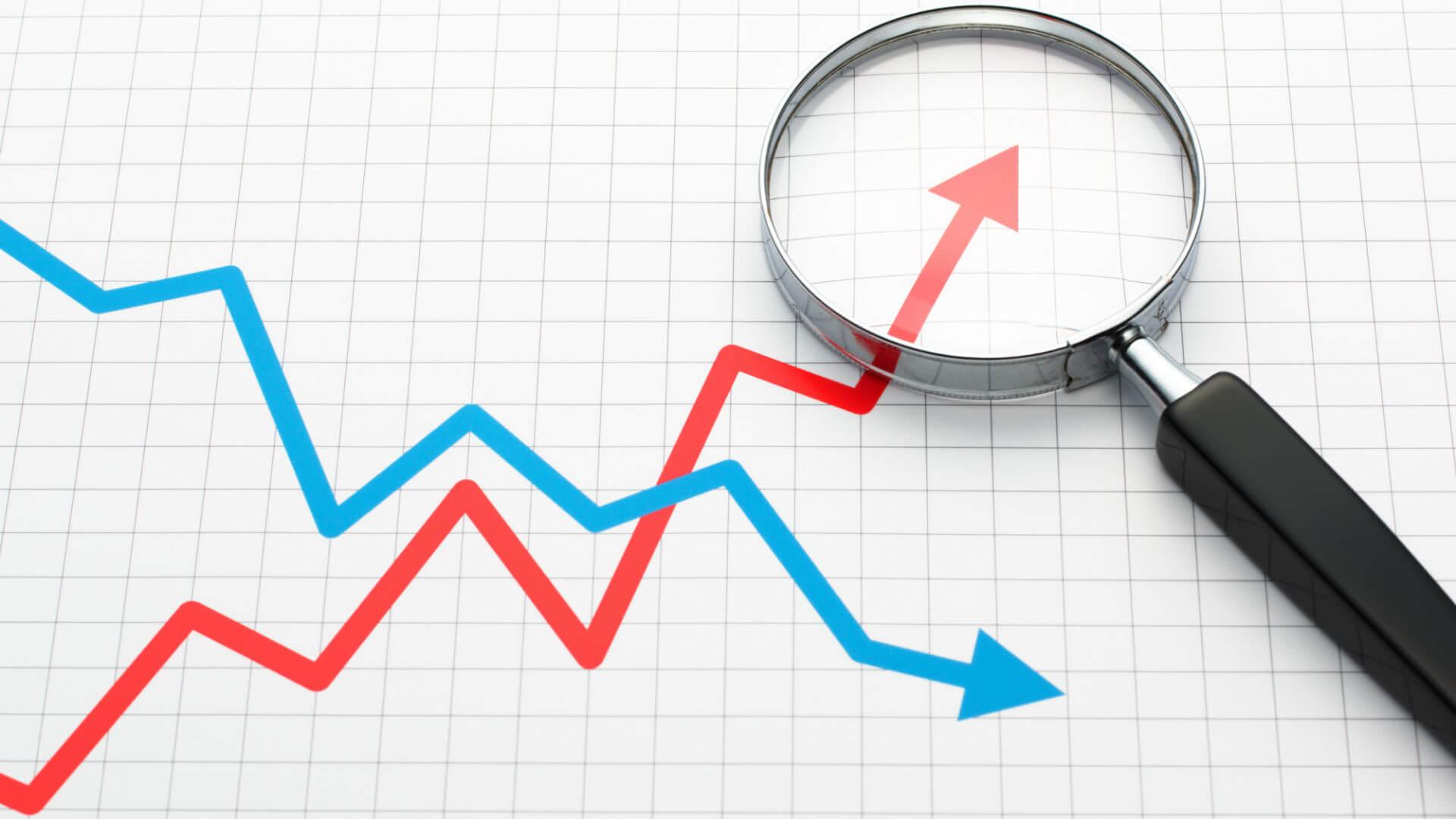 graph line trend analytics