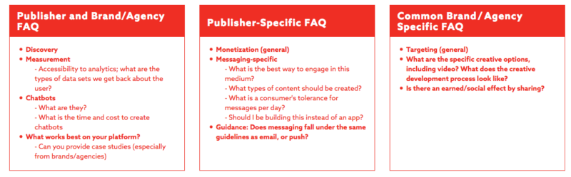 IAB messaging report