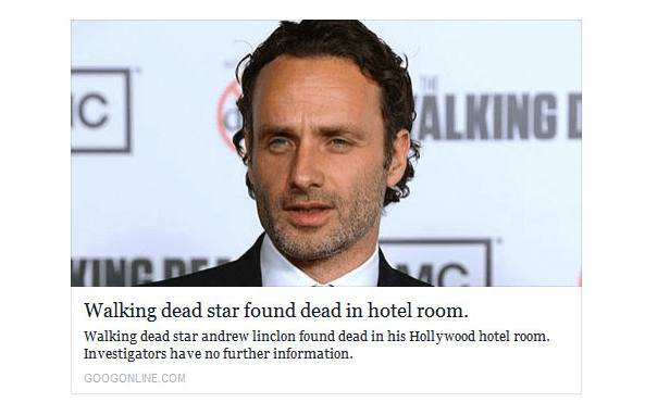 An extreme example of clickbait.